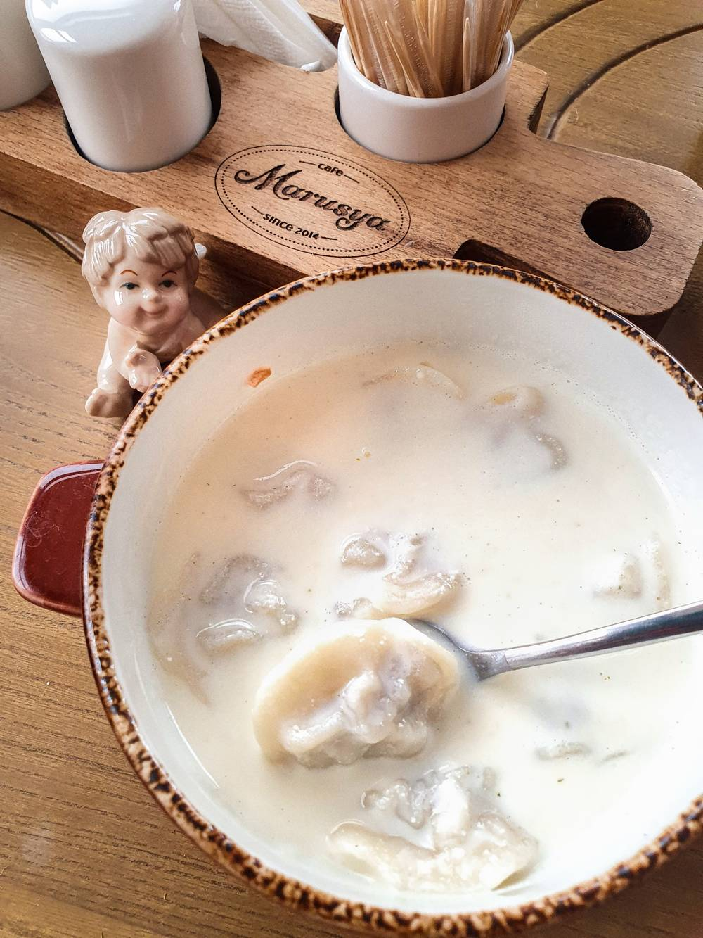Сырный суп с пельмешками доставка еды Волгоград кафе Marusya Маруся Дома